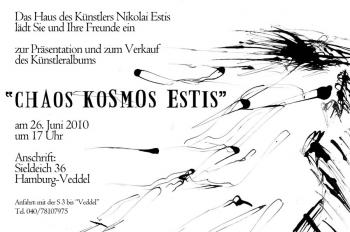 "Presentation of the album ""Chaos Kosmos Estis"" in the House of the artist Nikolai Estis (Hamburg, Germany)"