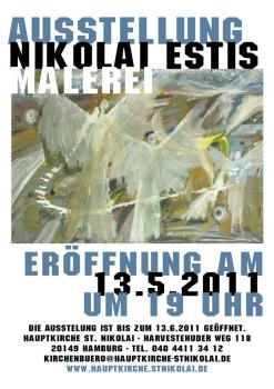 "Exhibition ""Nikolai Estis: Paintings"" in the Church of. St. Nikolai (Hamburg, Germany)"