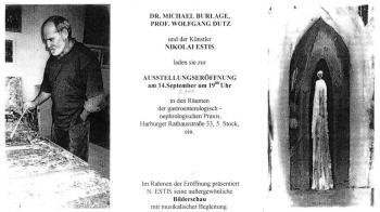 Dr. Michael Burlage, prof. Wolfgang Dutz und der Künstler Nikolai Estis (Hamburg)