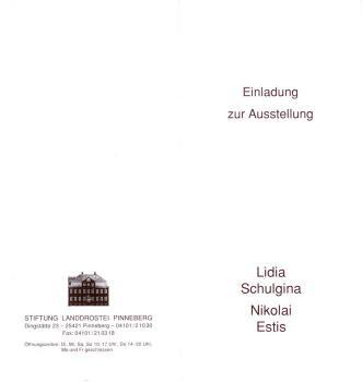 Einladung zur Ausstellung. Lidia Schulgina, Nikolai Estis in der Landdrostei Pinneberg